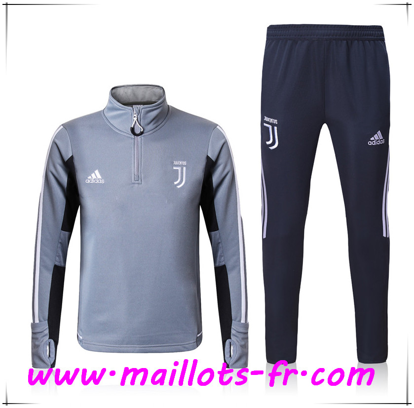 Maillots-fr Thailande Survetement de Foot Juventus Gris Ensemble 2017/2018