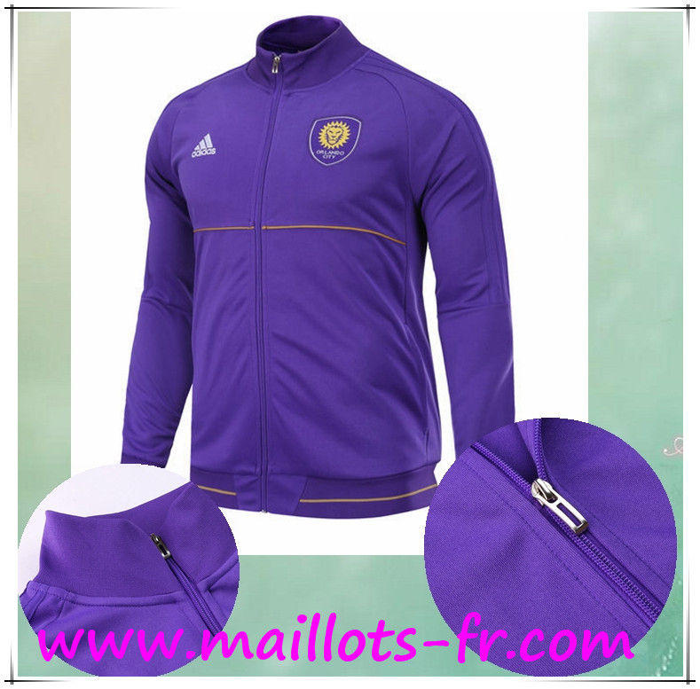 maillots-fr Survetement de Foot - Veste Orlando City SC Pourpre Ensemble 2017 2018