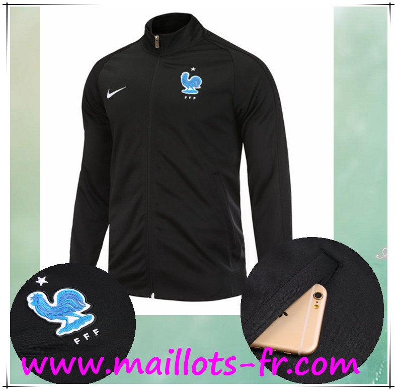 maillots-fr Survetement de Foot - Veste France Noir Ensemble 2017 2018