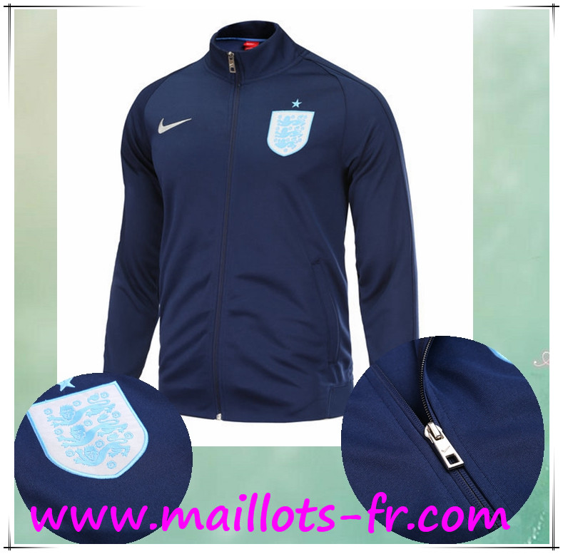 maillots-fr Survetement de Foot - Veste Angleterre Bleu Marin Ensemble 2017 2018