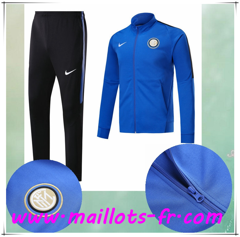 maillots-fr Survetement de Foot - Veste Inter Milan Bleu Ensemble 2017/2018