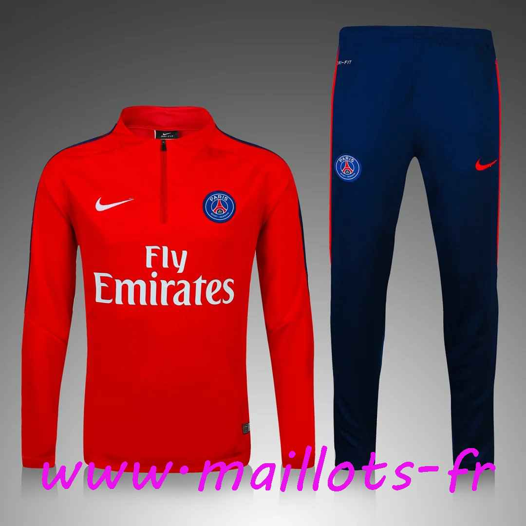 magasins survetement de foot enfant psg rouge 2016 2017 pas cher. Black Bedroom Furniture Sets. Home Design Ideas