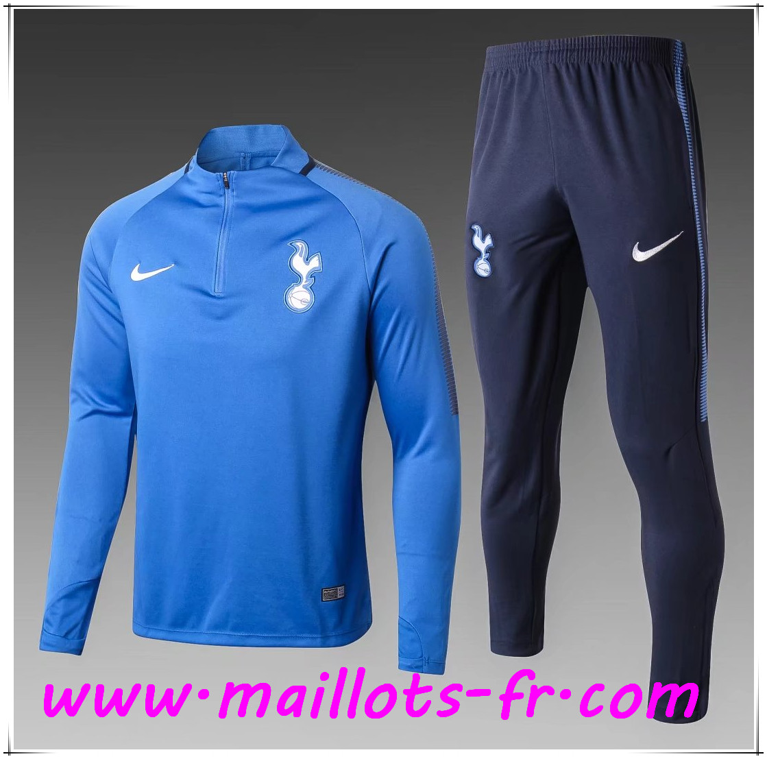 Maillots-fr Thailande Ensemble Survetement Foot Tottenham Hotspur Enfant Bleu 2017/2018