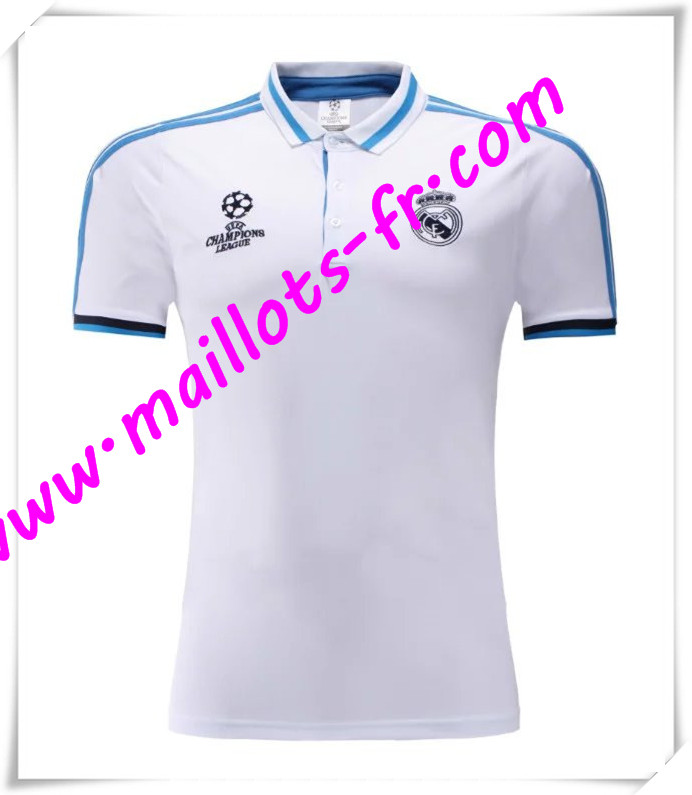 maillots-fr Champions League Maillot Polo Real Madrid Blanc 2016 2017 pas cher