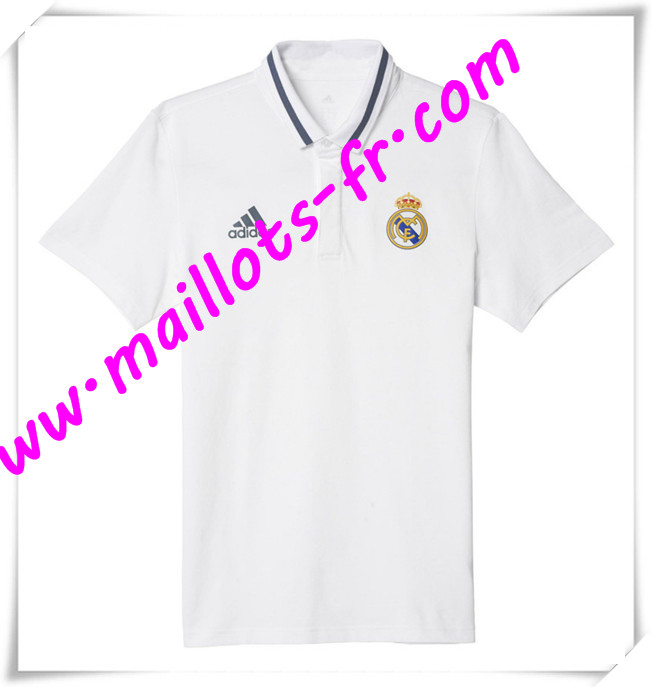 maillots-fr Maillot Polo Real Madrid Blanc 2016 2017 pas cher