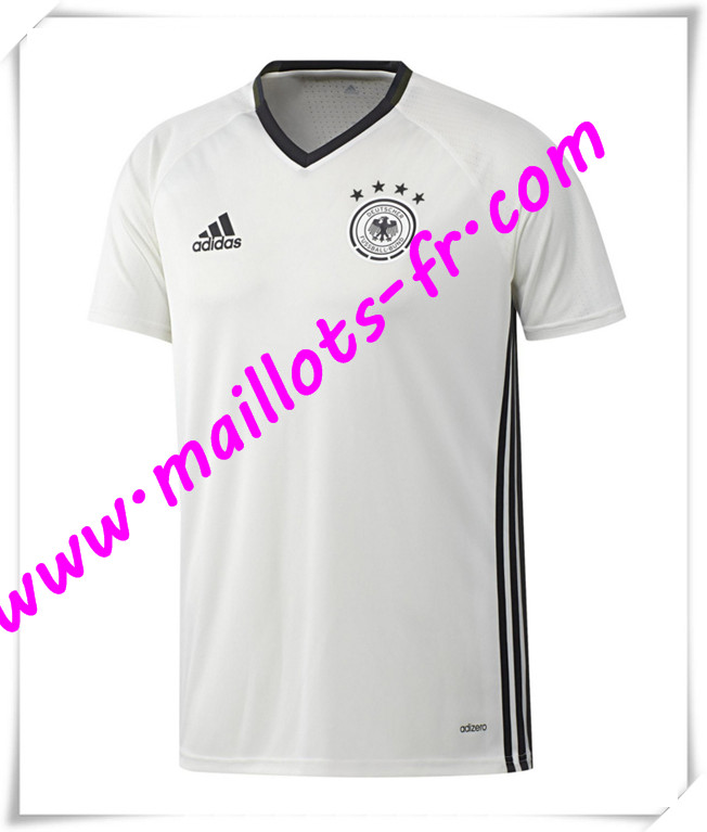 maillots-fr Maillot Training Allemagne Blanc PRE-MATCH 2016 2017 pas cher