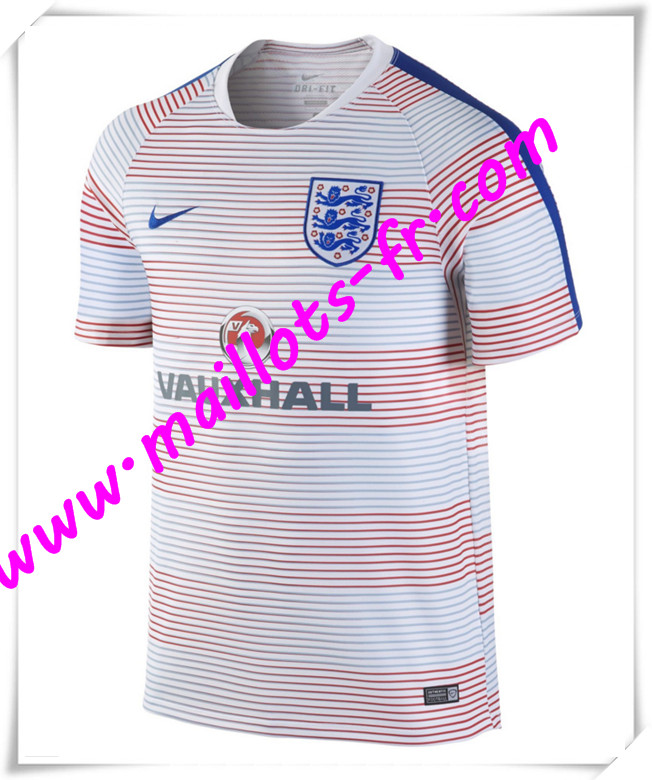 maillots-fr Maillot Training Angleterre Rose PRE-MATCH 2016 2017 pas cher