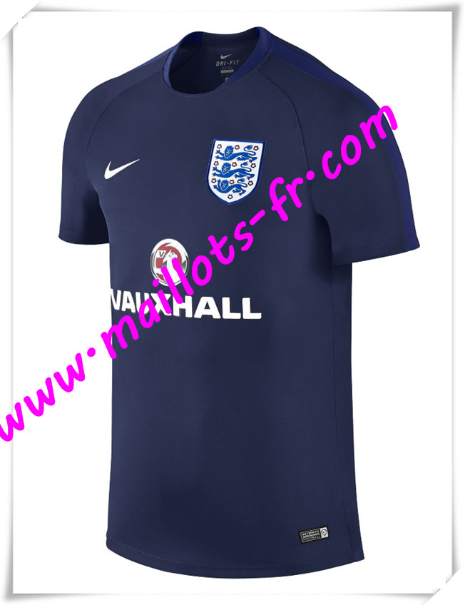 maillots-fr Maillot Training Angleterre Bleu Marine PRE-MATCH 2016 2017 pas cher
