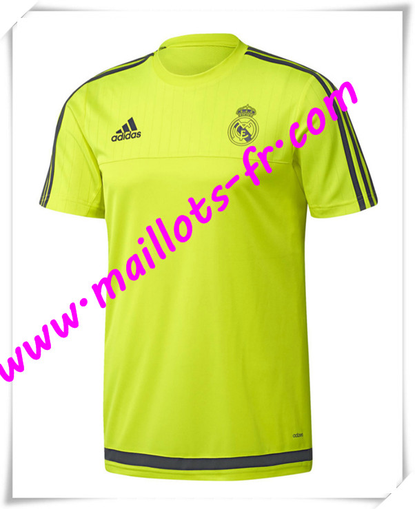 maillots-fr Maillot Training Real Madrid Jaune PRE-MATCH 2016 2017 pas cher