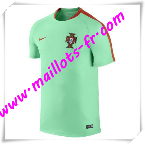 maillots-fr Maillot Training Portugal Vert PRE-MATCH 2016 2017 pas cher