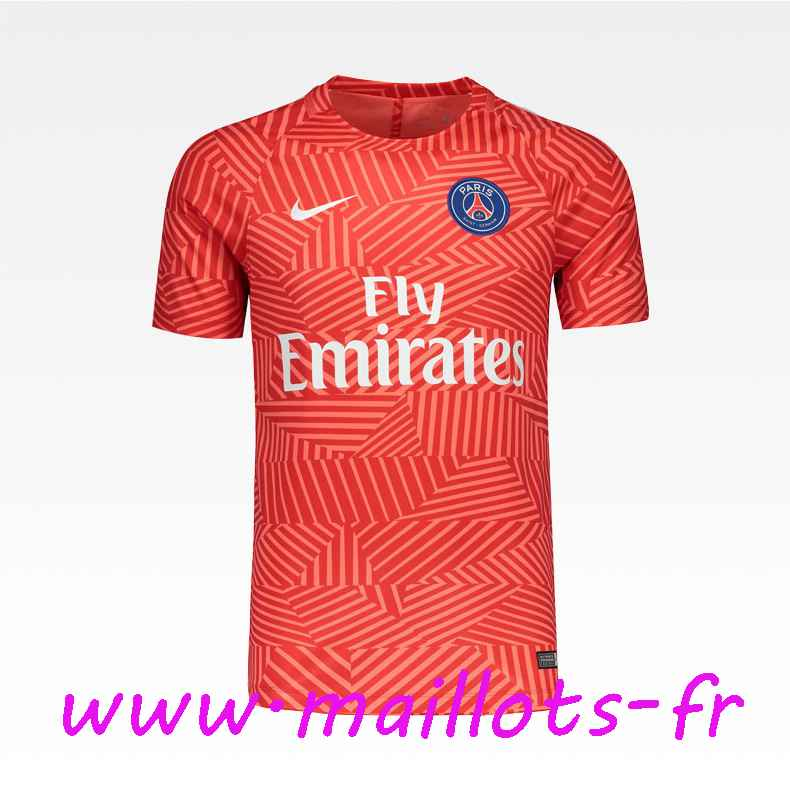 maillots-fr - Training T-Shirt Paris PSG Rouge Printing 2016 2017