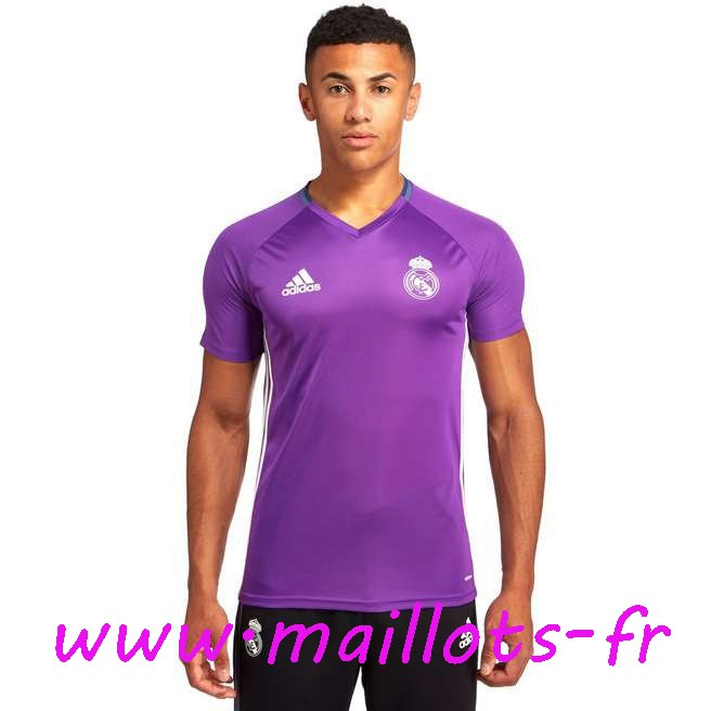 maillots-fr - Training T-Shirt Real Madrid Pourpre 2016 2017