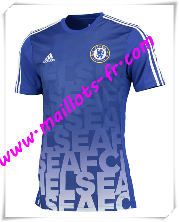 maillots-fr Maillot Training FC Chelsea Bleu PRE-MATCH 2016 2017 pas cher