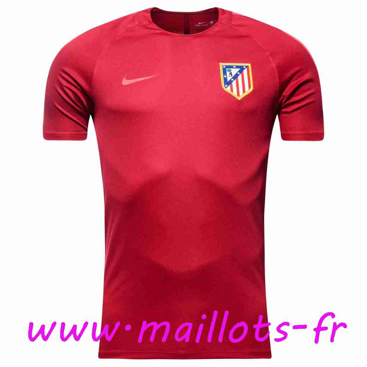 maillots-fr - Training T-Shirt Atletico Madrid Rouge 2016 2017