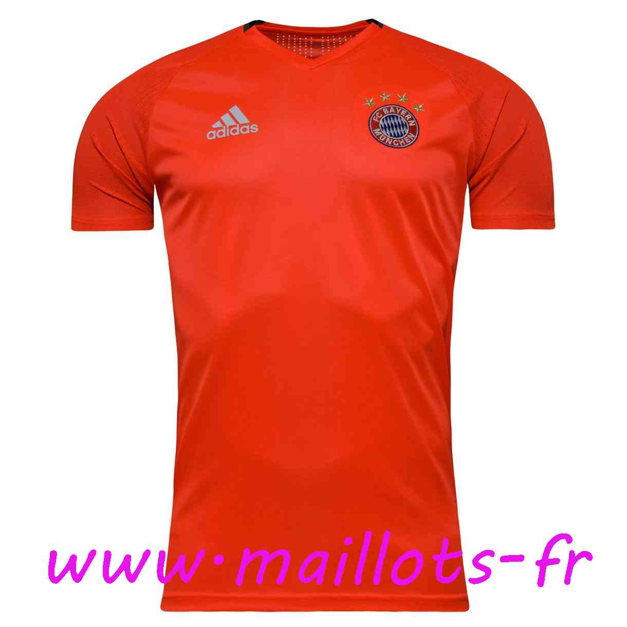 maillots-fr - Training T-Shirt Bayern Munich Rouge 2016 2017