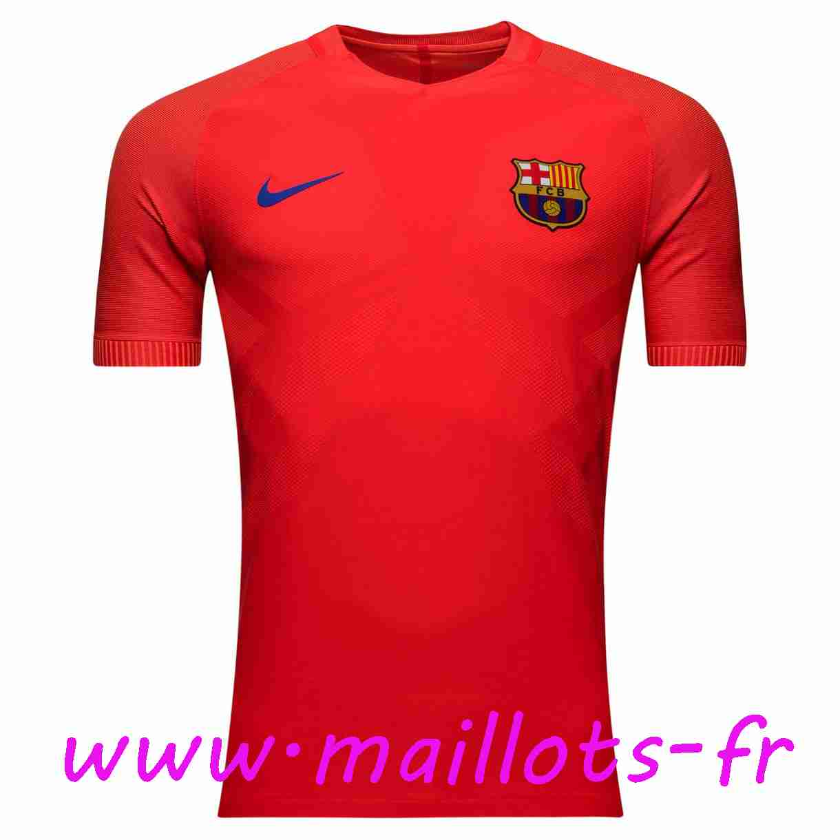 maillots-fr - Training T-Shirt FC Barcelone Rouge 2016 2017