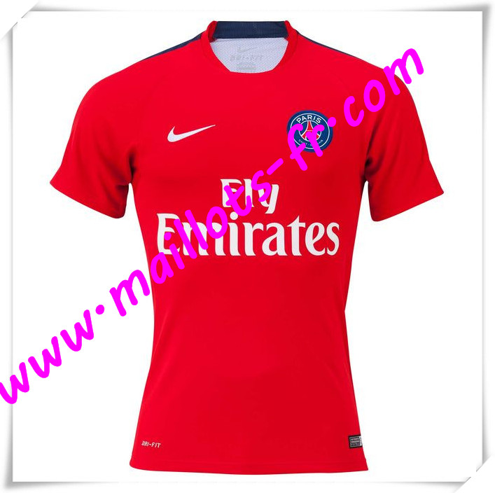 maillots-fr Maillot Training PSG Bleu Rouge 2016 2017 pas cher