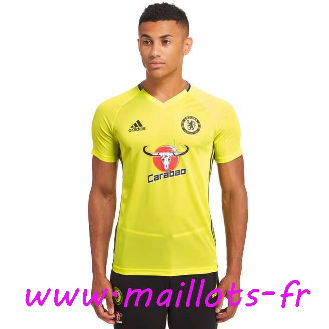 maillots-fr - Training T-Shirt FC Chelsea Jaune 2016 2017