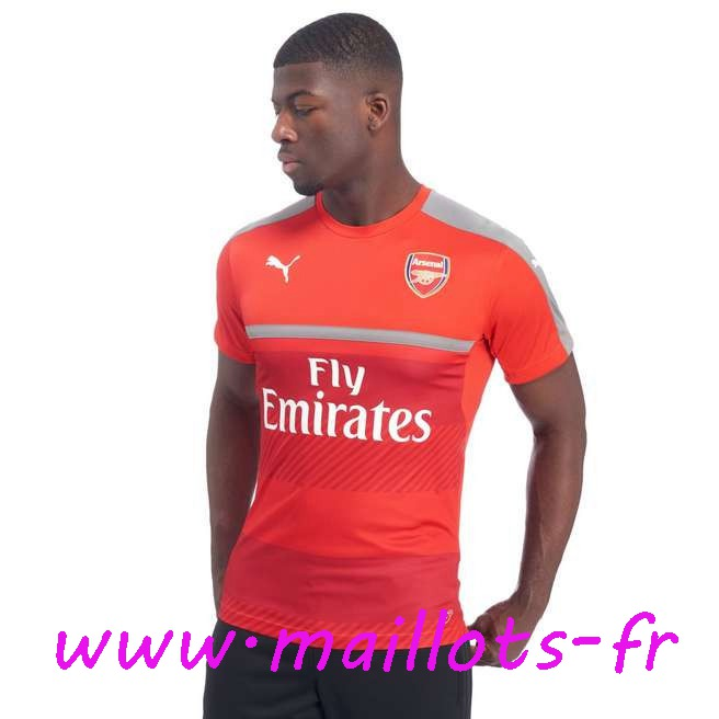 maillots-fr - Training T-Shirt Arsenal Rouge 2016 2017