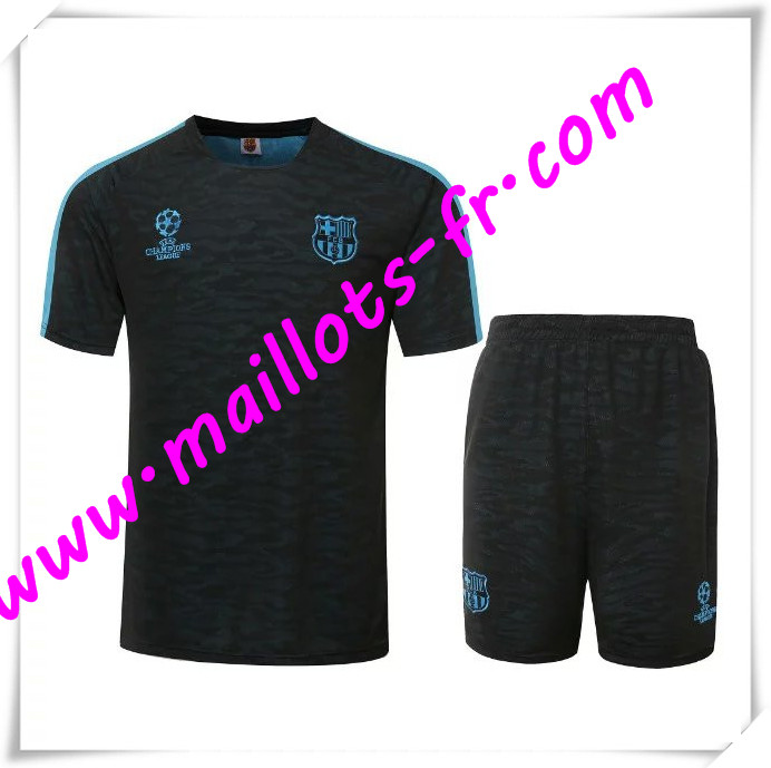 maillots-fr Champions League Maillot Tee Shirts Barcelone Noir 2016 2017 pas cher