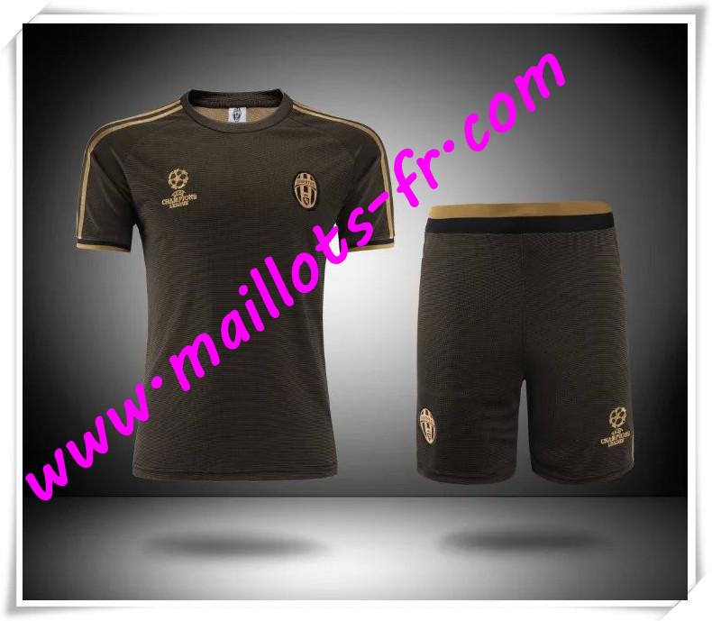 maillots-fr Champions League Maillot Tee Shirts Juventus Brun 2016 2017 pas cher