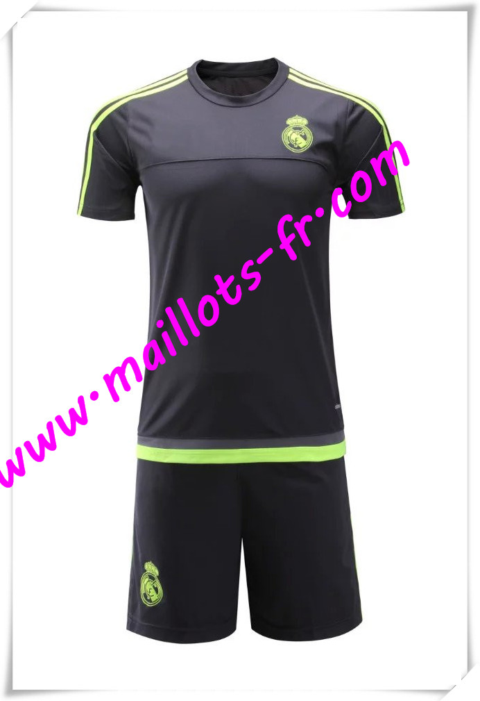 maillots-fr Maillot Tee Shirts Real Madrid Noir 2016 2017 pas cher