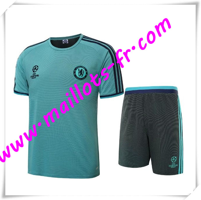 maillots-fr Champions League Maillot Tee Shirts FC Chelsea Vert 2016 2017 pas cher