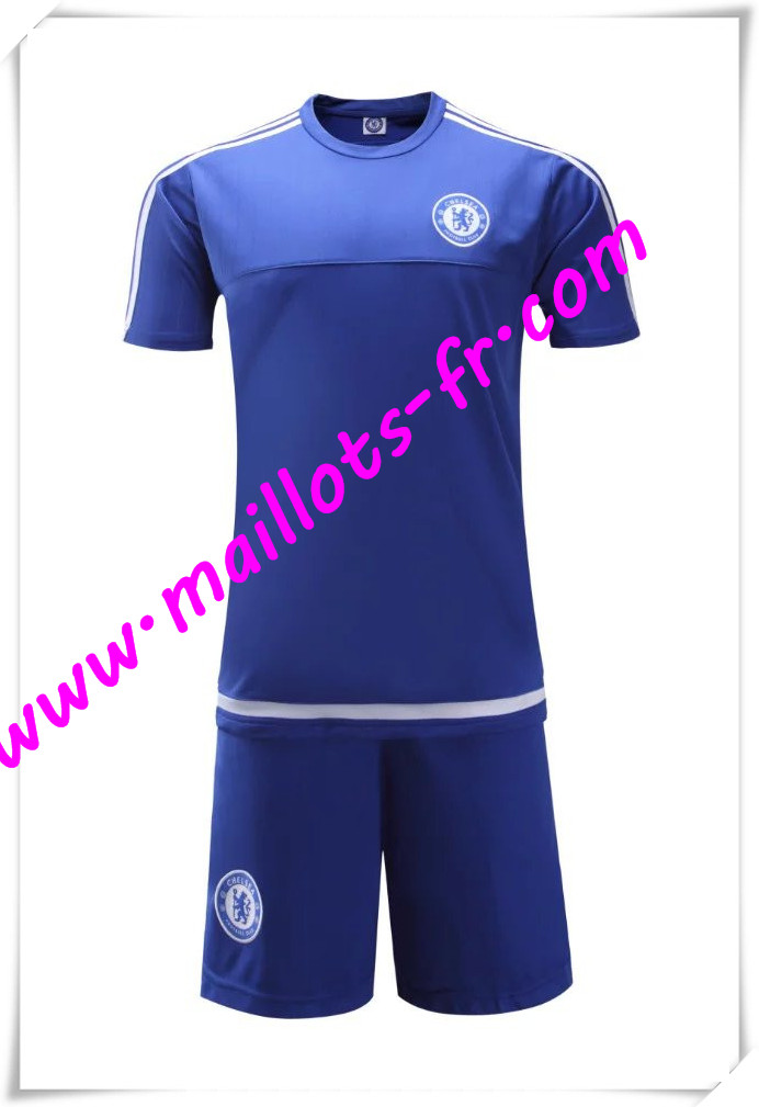 maillots-fr Maillot Tee Shirts FC Chelsea Bleu 2016 2017 pas cher