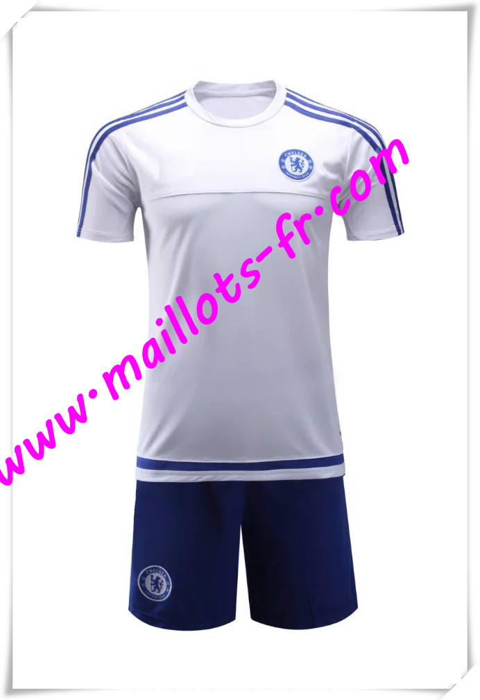 maillots-fr Maillot Tee Shirts FC Chelsea Blanc 2016 2017 pas cher