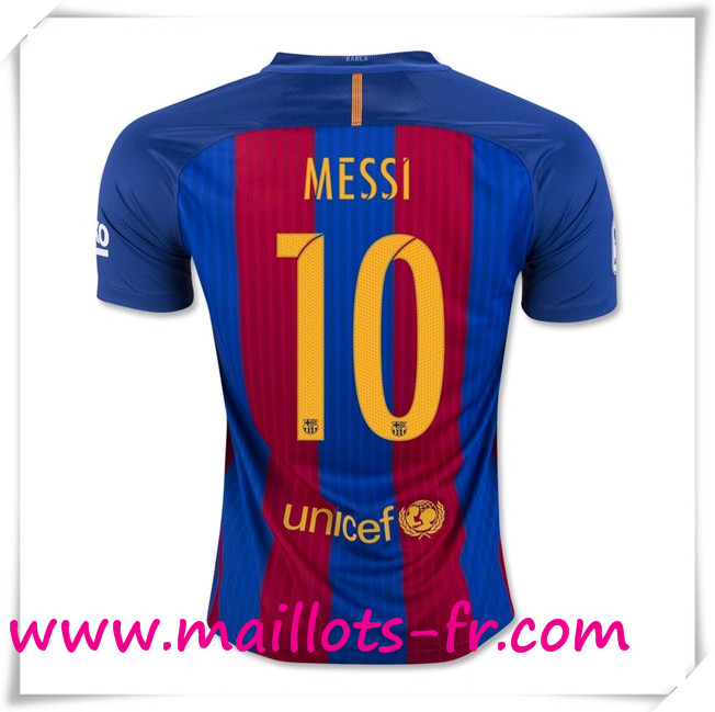 maillots-fr Maillot de Foot FC Barcelone (MESSI 10) Domicile 2016 2017