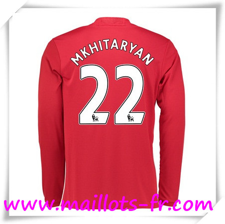 maillots-fr Maillot de Foot Manchester United Manche Longue (Mkhitaryan 22) Domicile 2016 2017