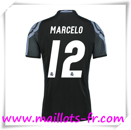 maillots-fr Maillot de Foot Real Madrid Femme (MARCELO 12) Third 2016 2017
