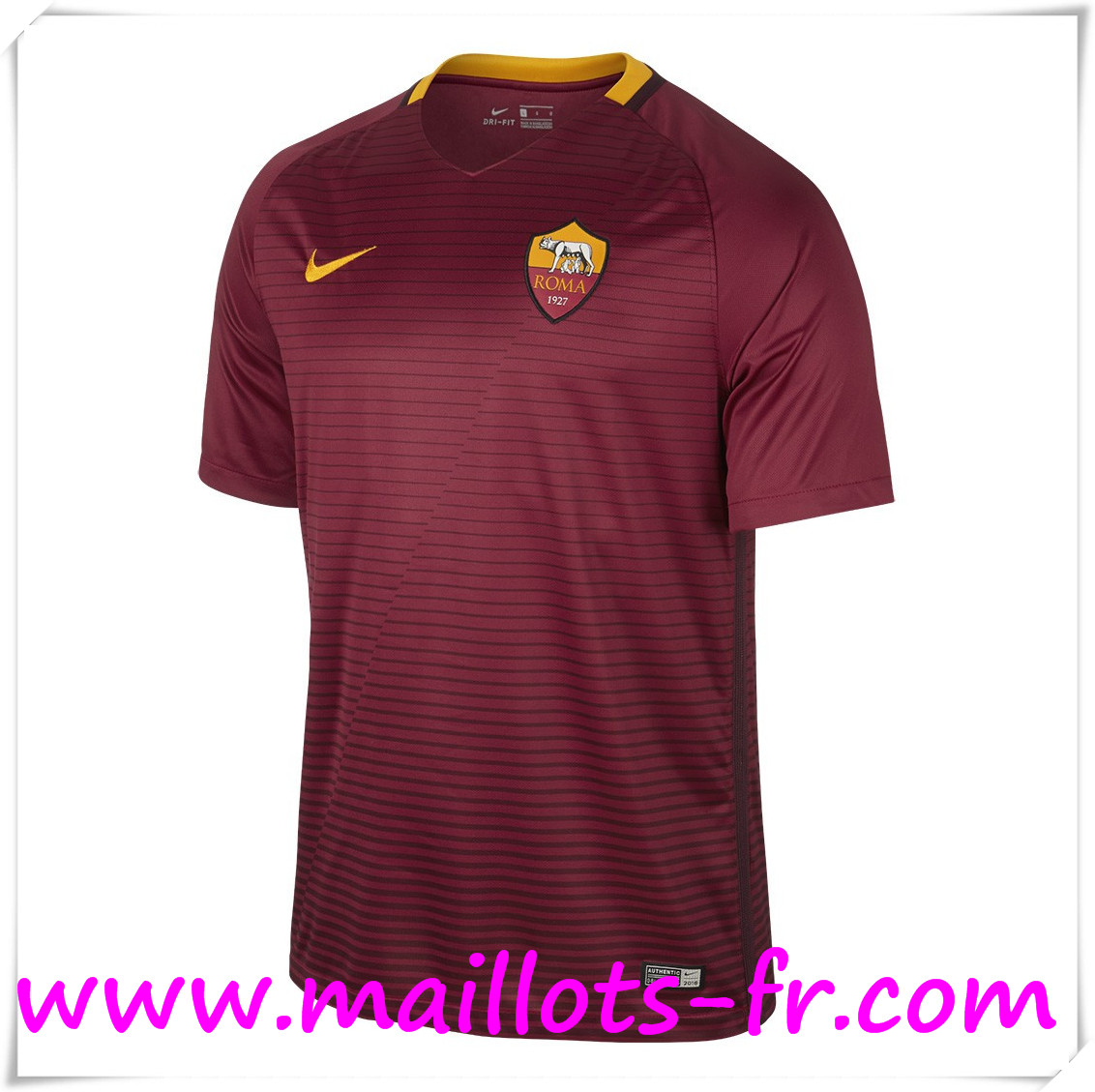 maillots-fr Maillot de Foot AS Roma Domicile 2016 2017