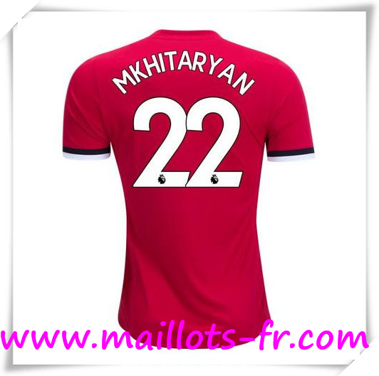 Maillot de Foot Manchester United 17/18 Domicile # MKHITARYAN 22
