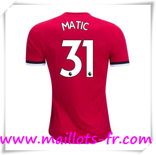 Maillot de Foot Manchester United 17/18 Domicile # MATIC 31