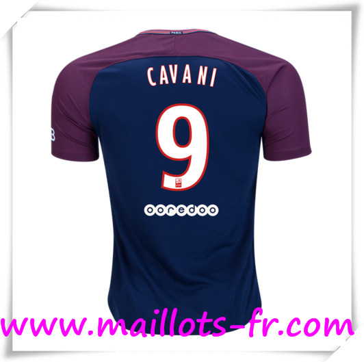 cdb77256dba22 Vend Maillots de Foot PSG Domicile # CAVANI 9 2017 2018 pas cher