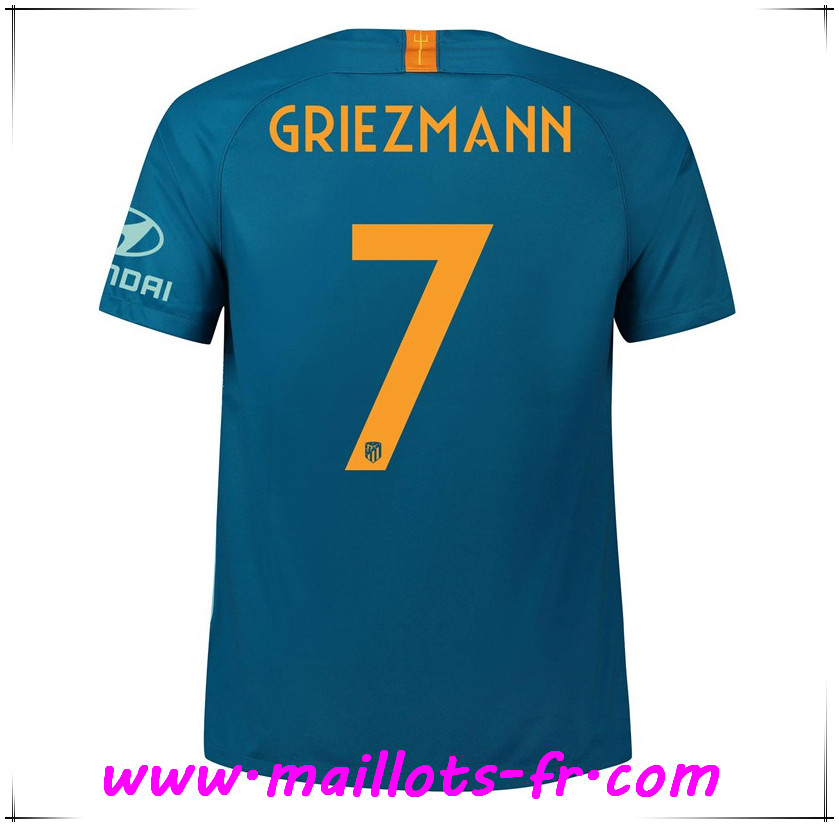 Maillots-fr Maillot de Foot Atletico Madrid (7 GRIEZMANN) Third 2018/2019