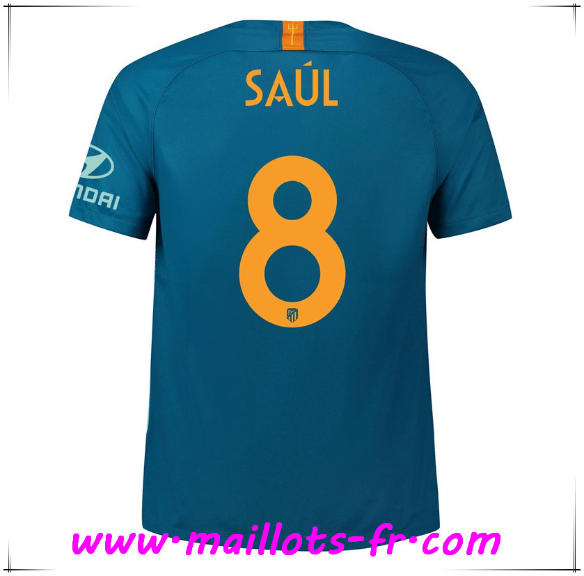 Maillots-fr Maillot de Foot Atletico Madrid (8 SAUL) Third 2018/2019