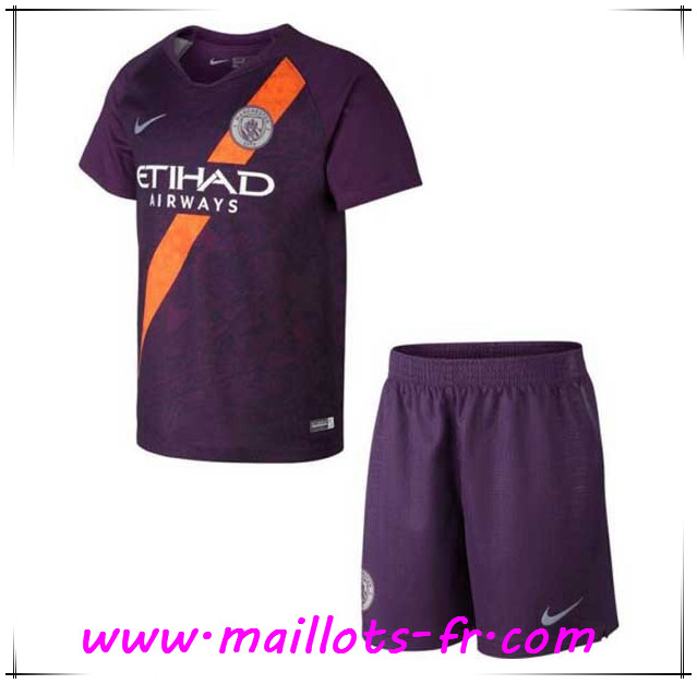 Maillots-fr Maillot de Foot Manchester City Enfants Third 2018/2019