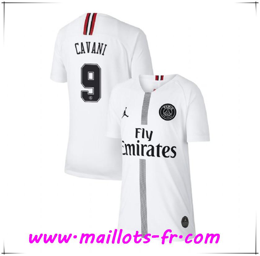 5d275c2284fb9 Maillots-fr Maillot de Foot PSG (CAVANI 9) Third Blanc 2018/2019