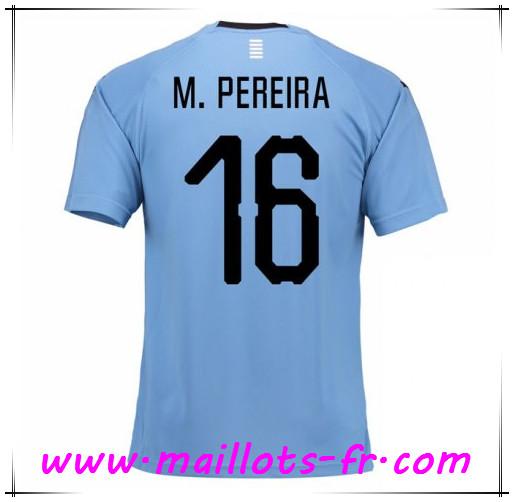Coloriage Maillot De Foot France 2018.Coloriage Maillot De Foot Equipe De Uruguay M Pereira 16 Domicile