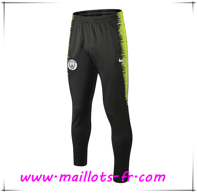 Maillots-fr Training Pantalon Foot Manchester City Gris Fonce/Vert Strike Drill 2018/2019
