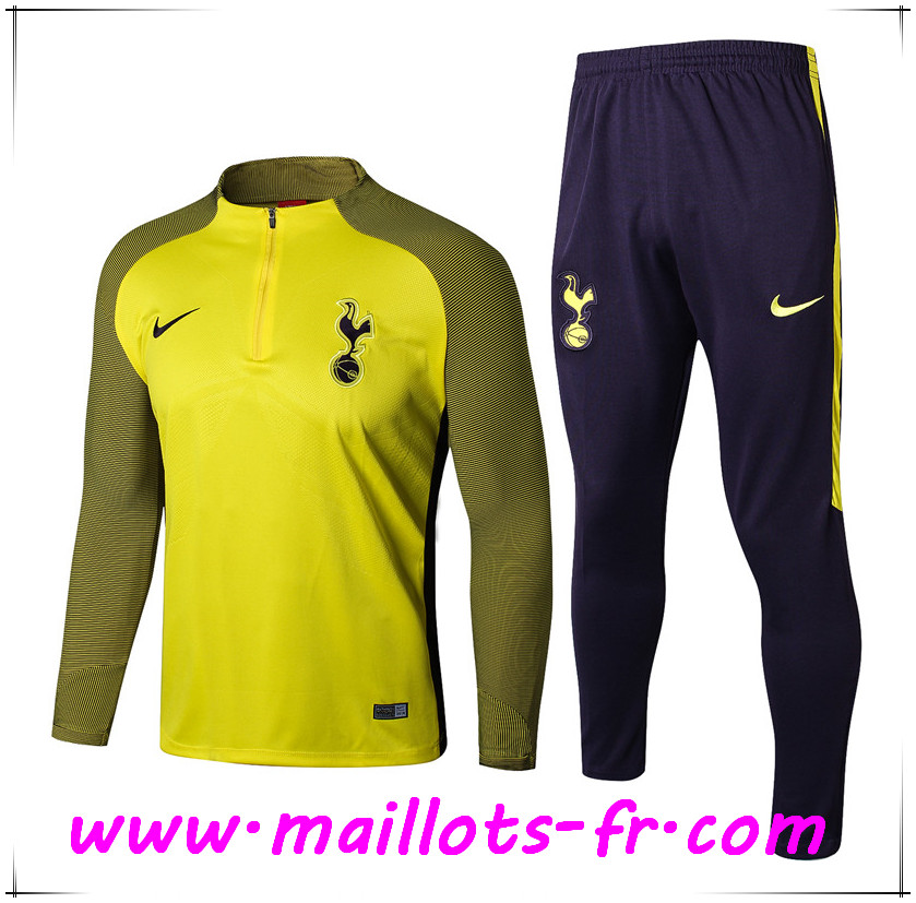 maillots-fr nouveau Survetement de Foot Tottenham Hotspur Jaune Strike Drill Ensemble 2017 2018