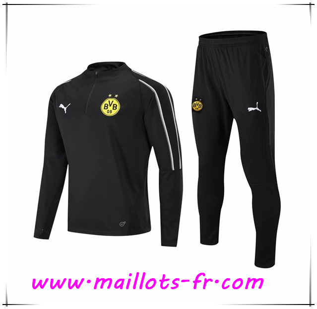 Maillots-fr Ensemble Survetement de Foot Dortmund BVB Noir 2018/2019