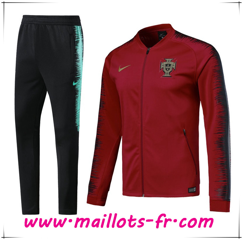 Maillots-fr nouveau Survetement de Foot - Veste Portugal Rouge 2018/2019