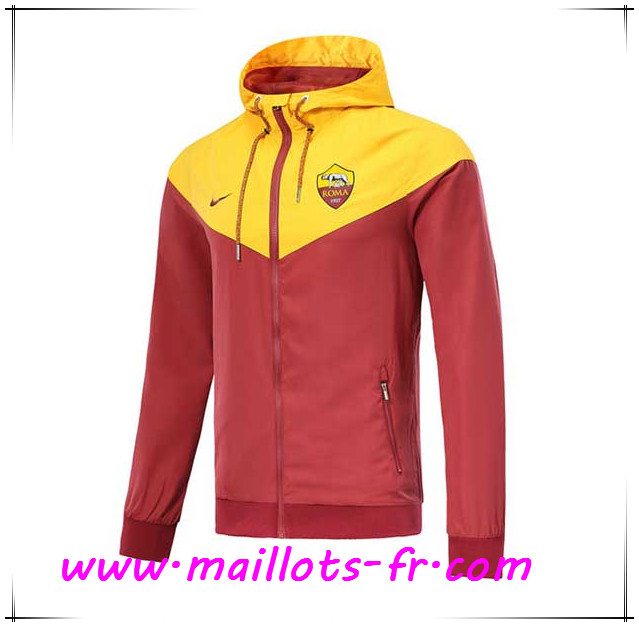 Maillots-fr Veste Foot AS Roma Brown/Jaune 2018/2019