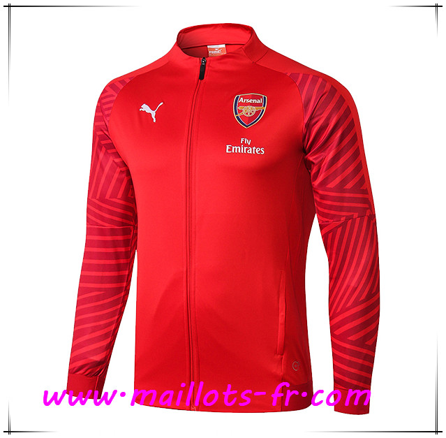 Maillots-fr Veste de Foot Arsenal Rouge 2018/2019