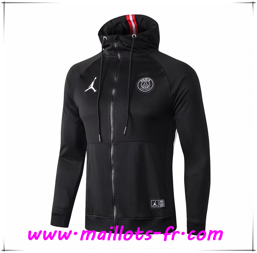 Vend Veste Foot Sweat A Capuche Jordan PSG Noir 18 19 shop