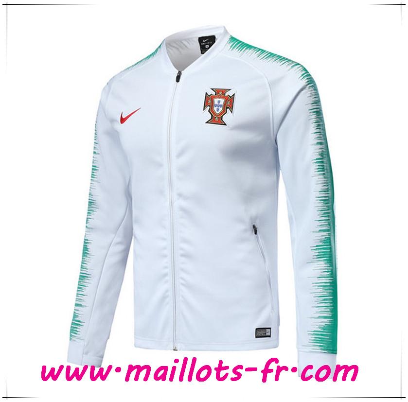 flocage Veste Foot Portugal Blanc 2018 20