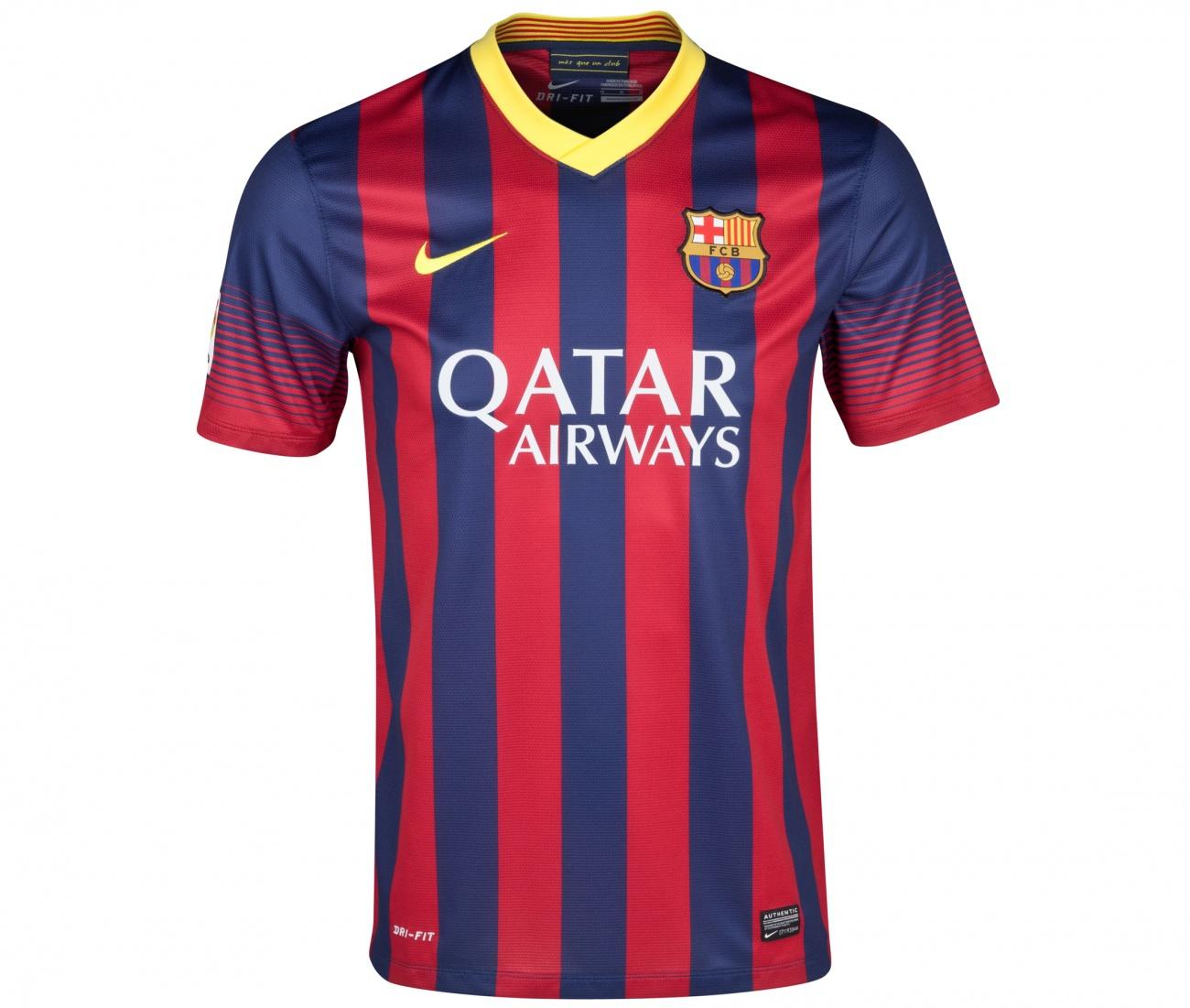 la liga nouveau maillot foot barcelone domicile manche courte 2013 2014 10 messi homme pas chere. Black Bedroom Furniture Sets. Home Design Ideas